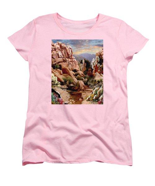 Hidden Valley Trail Women's T-Shirt (Standard Cut) by Ron Chambers