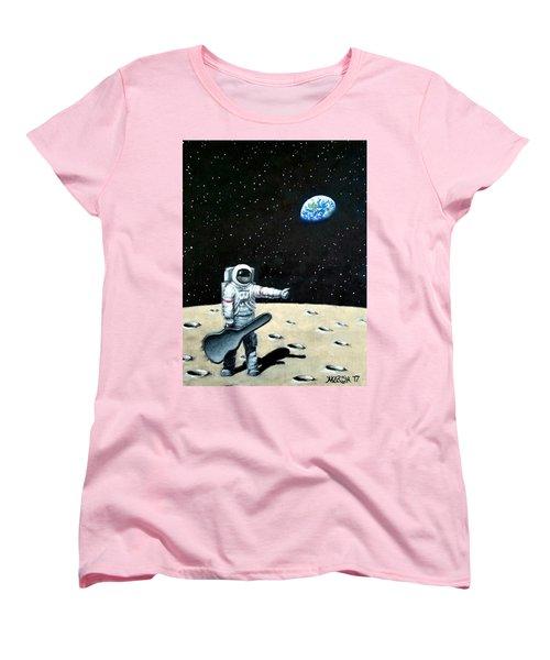 Hitchhiker With Guitar  Women's T-Shirt (Standard Cut)