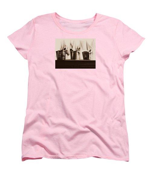 Women's T-Shirt (Standard Cut) featuring the photograph Honeybee Smokers by Kristine Nora