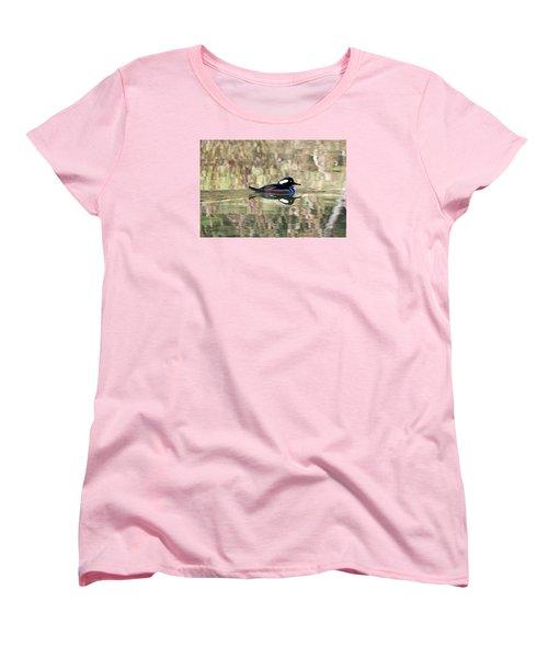 Hooded Merganser Women's T-Shirt (Standard Cut) by Elizabeth Budd