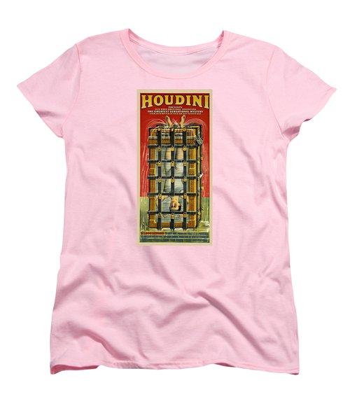Houdini Advertisement 1916 Women's T-Shirt (Standard Cut) by Andrew Fare