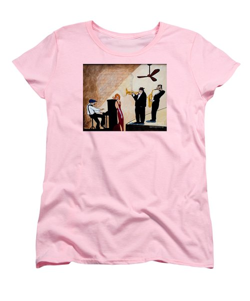 Women's T-Shirt (Standard Cut) featuring the painting House Of The Rising Sun by Barbara McMahon