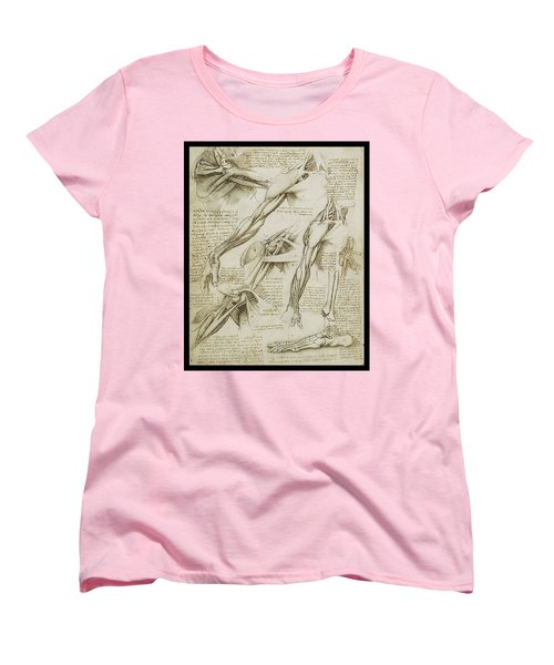 Women's T-Shirt (Standard Cut) featuring the painting Human Arm Study by James Christopher Hill