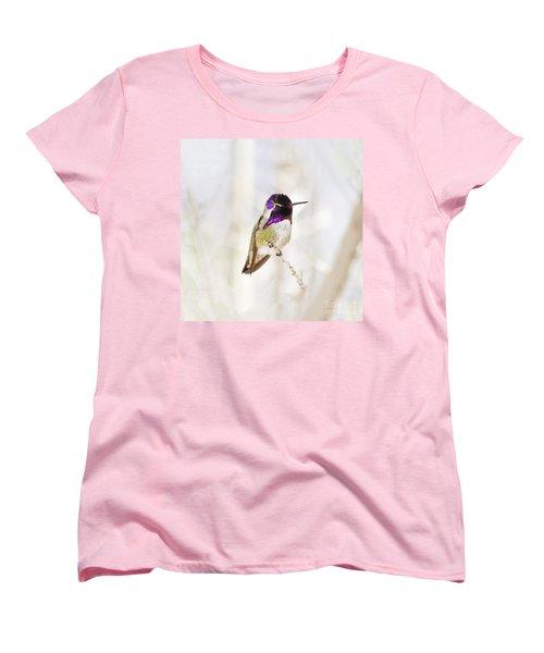Hummingbird Larger Background Women's T-Shirt (Standard Cut) by Rebecca Margraf