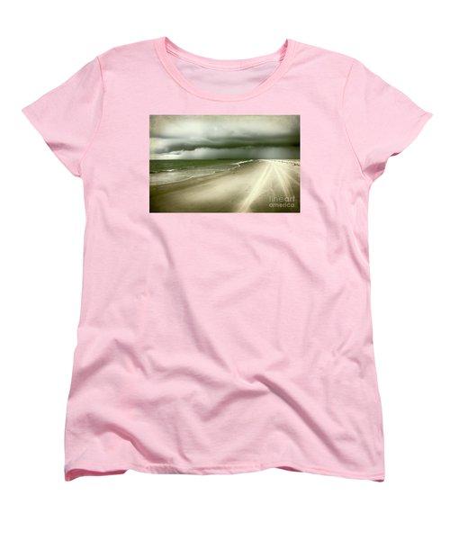 Hurricane Storm Ocracoke Island Outer Banks Women's T-Shirt (Standard Cut) by Dan Carmichael