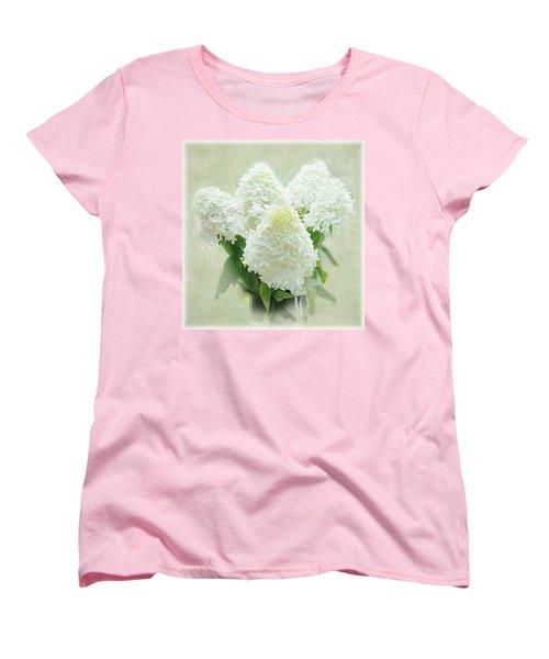Hydrangeas Women's T-Shirt (Standard Cut) by Geraldine Alexander