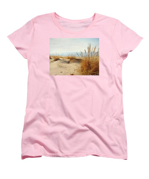 Women's T-Shirt (Standard Cut) featuring the photograph I Hear You Coming  by Kathi Mirto
