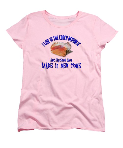 I Live In The Conch Republic Women's T-Shirt (Standard Cut) by Bob Slitzan