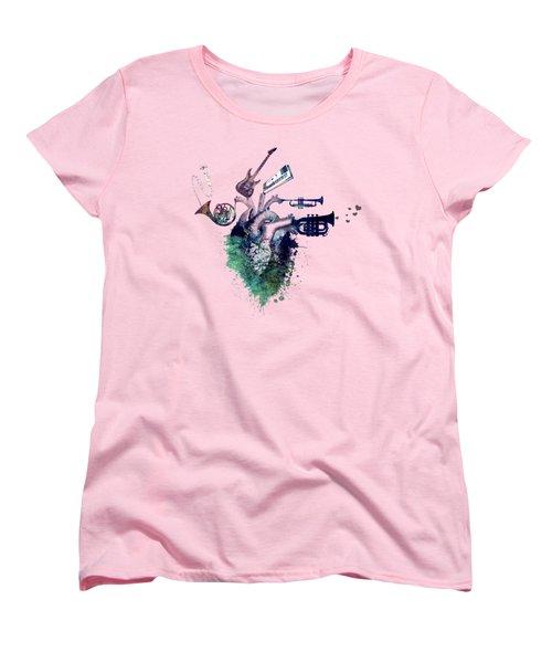 I Love Music - Music My Love Women's T-Shirt (Standard Cut) by Justyna JBJart