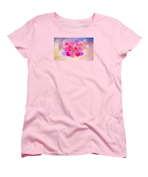 I Love You..happy Valentines Day Women's T-Shirt (Standard Cut) by Sherri's Of Palm Springs