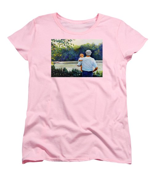Ian And His Daddy One Sunday Afternoon Women's T-Shirt (Standard Cut) by Marlene Book
