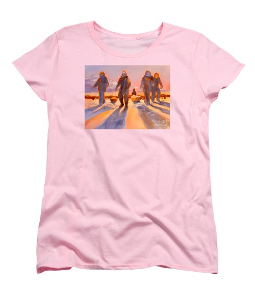 Ice Men Come Home Women's T-Shirt (Standard Cut) by Kathy Braud