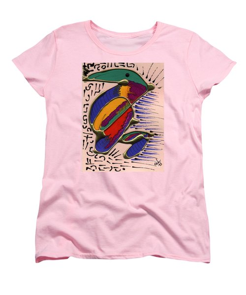Women's T-Shirt (Standard Cut) featuring the painting If Only I Could Fly by Angela L Walker