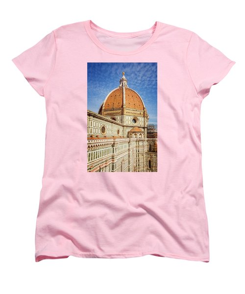 Women's T-Shirt (Standard Cut) featuring the photograph Il Duomo Florence Italy by Joan Carroll