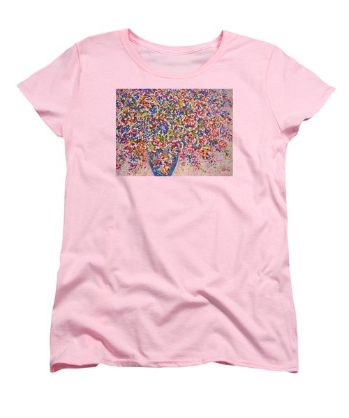 Women's T-Shirt (Standard Cut) featuring the painting Illumination by Natalie Holland