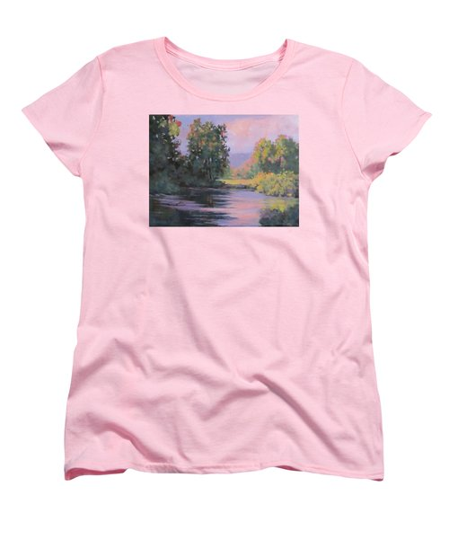 Women's T-Shirt (Standard Cut) featuring the painting In Another Light by Karen Ilari