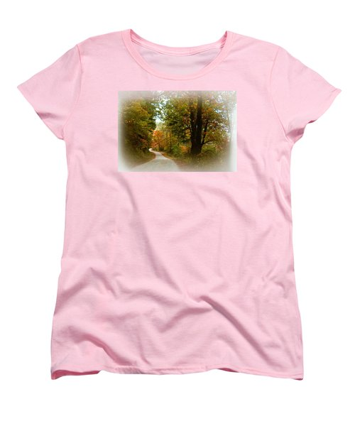Women's T-Shirt (Standard Cut) featuring the digital art In The Mountains Of Georgia by Sharon Batdorf
