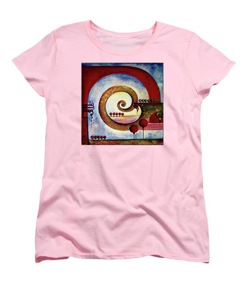 Women's T-Shirt (Standard Cut) featuring the painting In The World Of Balance by Anna Ewa Miarczynska