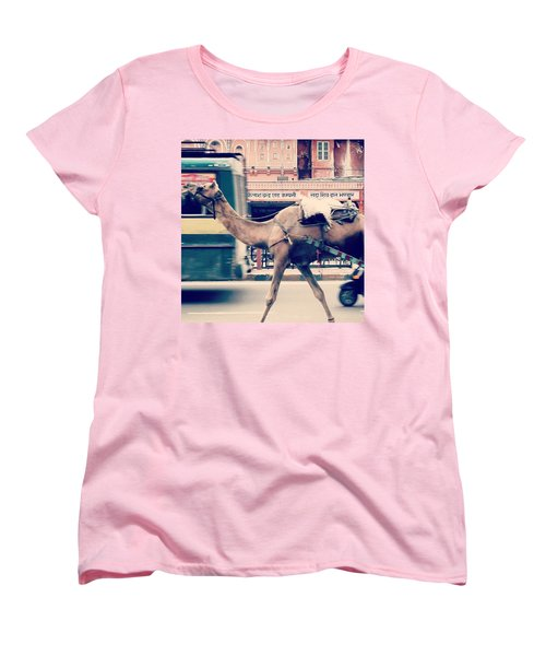 India - Where Even The Camels Overtake Women's T-Shirt (Standard Cut)
