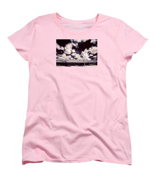 Infrared Lake Women's T-Shirt (Standard Cut) by Odon Czintos