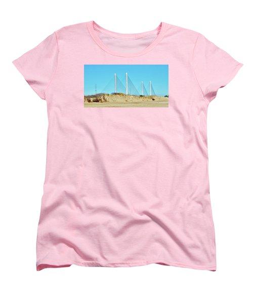 Inlet Bridge Beach View Women's T-Shirt (Standard Cut) by William Bartholomew