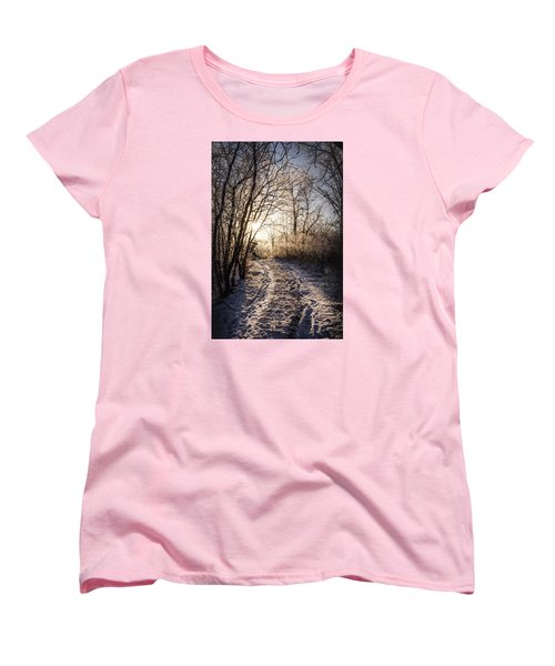 Women's T-Shirt (Standard Cut) featuring the photograph Into The Light by Annette Berglund
