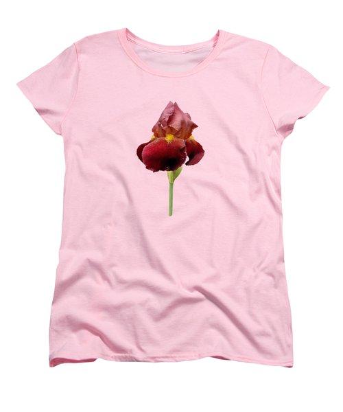 Women's T-Shirt (Standard Cut) featuring the photograph Iris Vitafire Transparent Background by Paul Gulliver