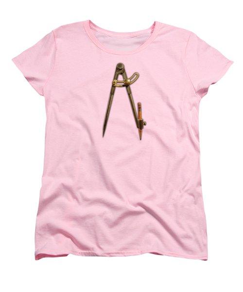Iron Compass Pattern Women's T-Shirt (Standard Cut) by YoPedro