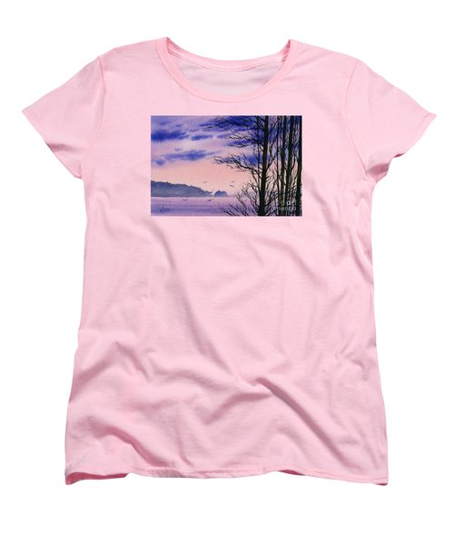 Women's T-Shirt (Standard Cut) featuring the painting Island Point by James Williamson