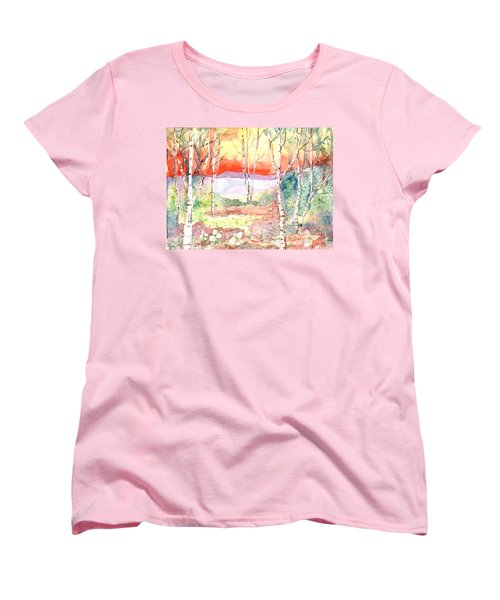 Women's T-Shirt (Standard Cut) featuring the painting Ivan's Eve by Renate Nadi Wesley