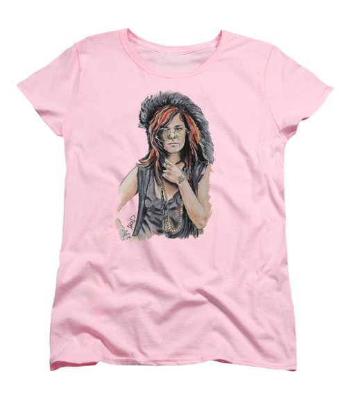 Janis Joplin Women's T-Shirt (Standard Cut) by Melanie D