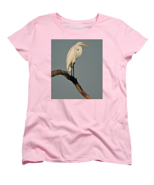 Women's T-Shirt (Standard Cut) featuring the photograph January Egret by Peg Toliver