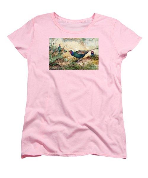 Japanese Pheasants Women's T-Shirt (Standard Cut) by Joseph Wolf