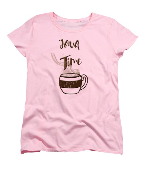 Java Time - Steaming Coffee Cup Women's T-Shirt (Standard Cut) by Joann Vitali
