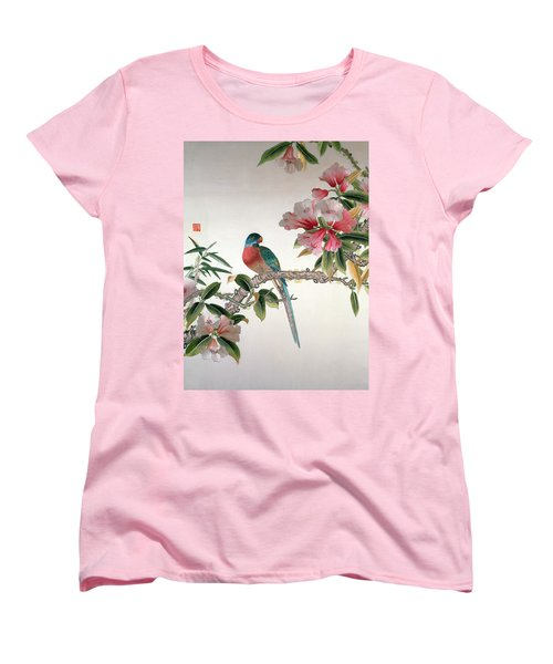 Jay On A Flowering Branch Women's T-Shirt (Standard Cut) by Chinese School