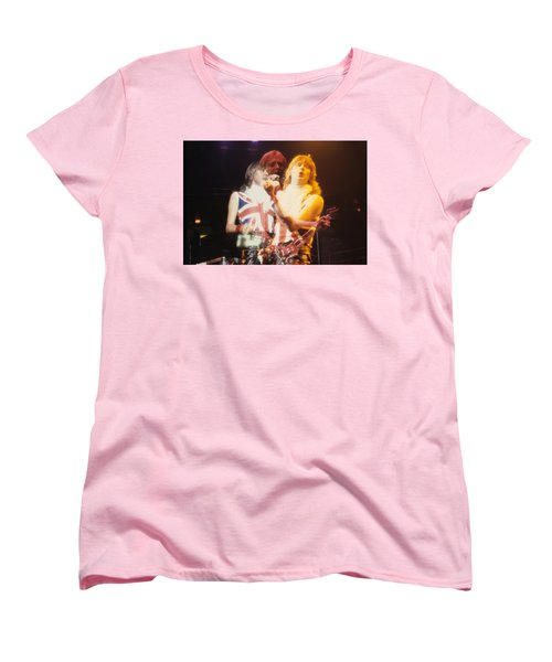 Joe And Phil Of Def Leppard Women's T-Shirt (Standard Cut) by Rich Fuscia