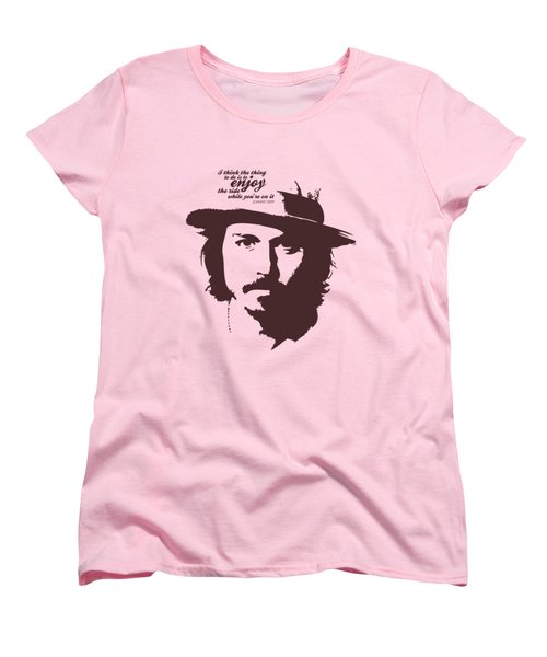 Johnny Depp Minimalist Poster Women's T-Shirt (Standard Cut) by Lab No 4 - The Quotography Department