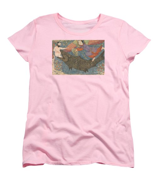 Jonah And The Whale Women's T-Shirt (Standard Cut) by Iranian School