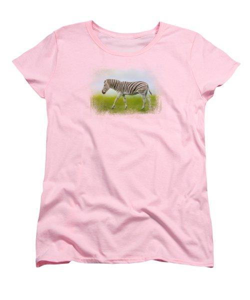 Journey Of The Zebra Women's T-Shirt (Standard Cut) by Jai Johnson