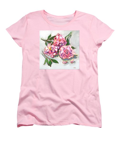 June Peonies Women's T-Shirt (Standard Cut) by Susan Thomas
