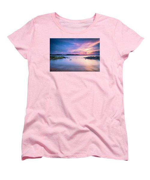 June Sunset On The River Women's T-Shirt (Standard Cut) by Edward Kreis