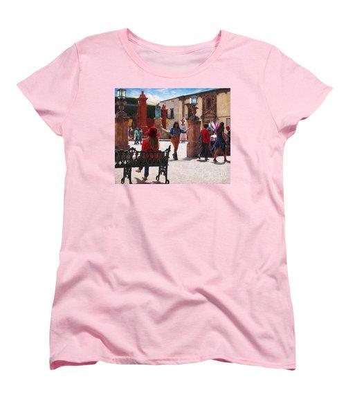 Women's T-Shirt (Standard Cut) featuring the photograph Just Before The Wedding by John Kolenberg