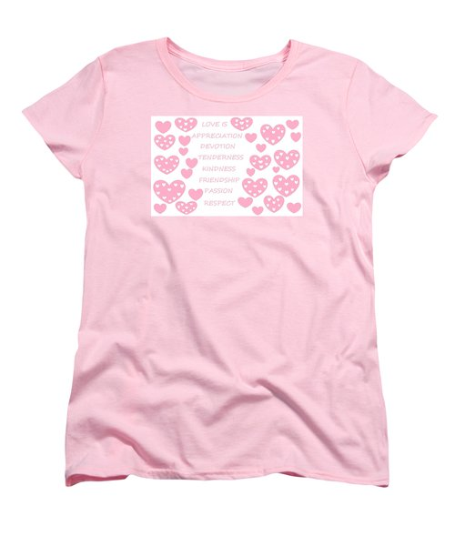 Just Hearts 3 Women's T-Shirt (Standard Cut) by Linda Velasquez