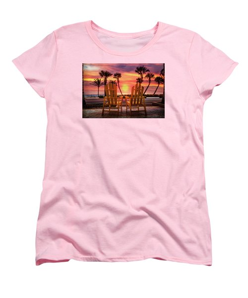 Women's T-Shirt (Standard Cut) featuring the photograph Just The Two Of Us by Debra and Dave Vanderlaan
