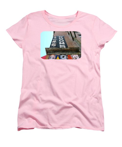 Women's T-Shirt (Standard Cut) featuring the photograph Keefer Rooms by Ethna Gillespie