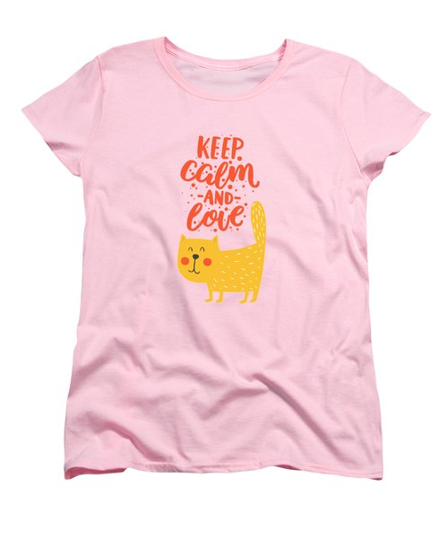 Women's T-Shirt (Standard Cut) featuring the photograph Keep Calm And Love Cute Animals by Edward Fielding