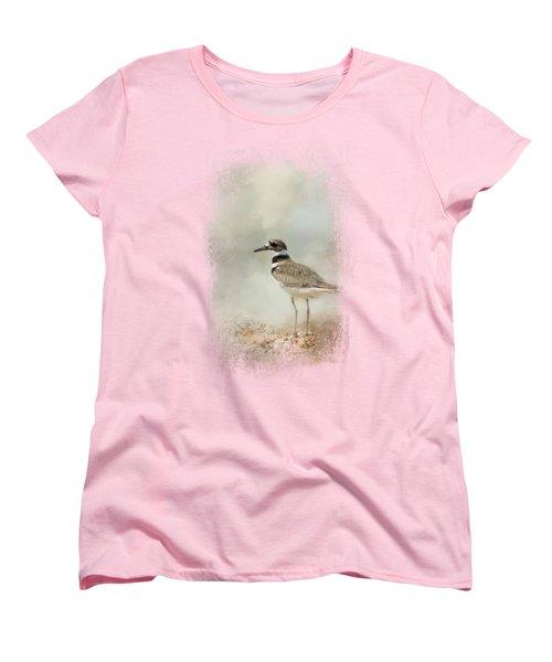 Killdeer On The Rocks Women's T-Shirt (Standard Cut) by Jai Johnson