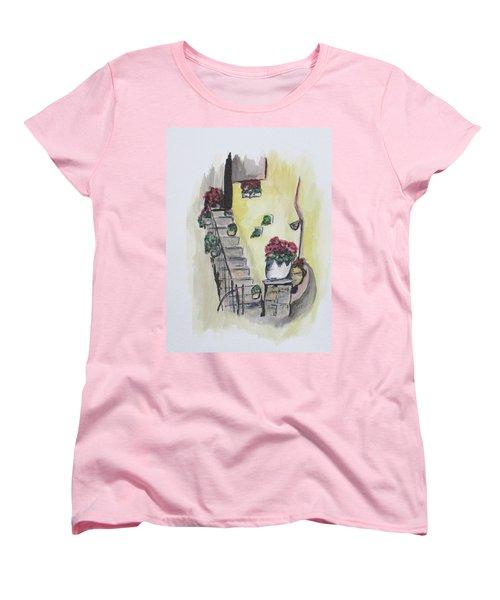 Kimberly's Castellabate Flowers Women's T-Shirt (Standard Cut)