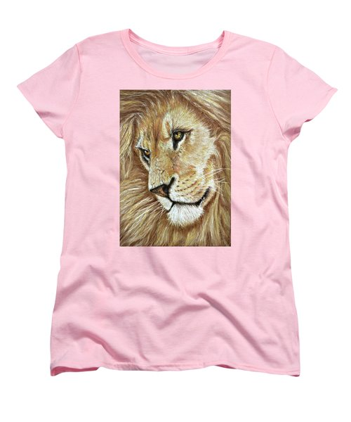 Women's T-Shirt (Standard Cut) featuring the drawing King Of The Jungle by Heidi Kriel