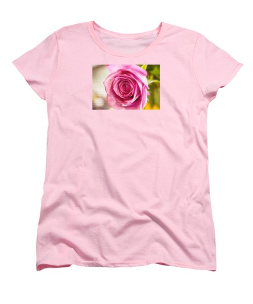Women's T-Shirt (Standard Cut) featuring the photograph Kissed With Pink by Joan Bertucci